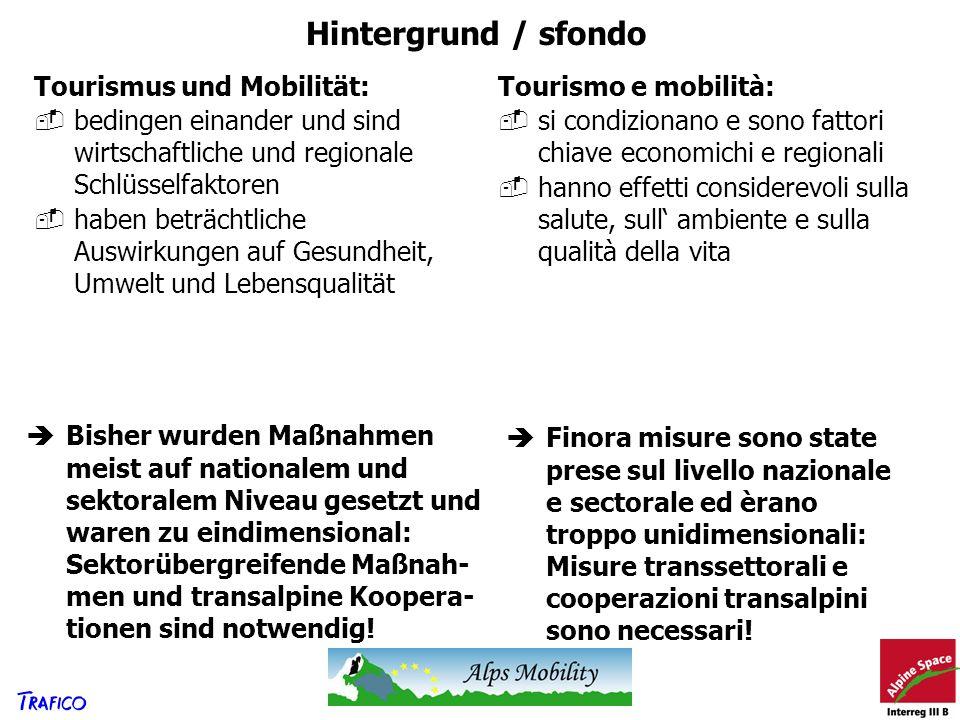 Hintergrund / sfondo Tourismus und Mobilität: