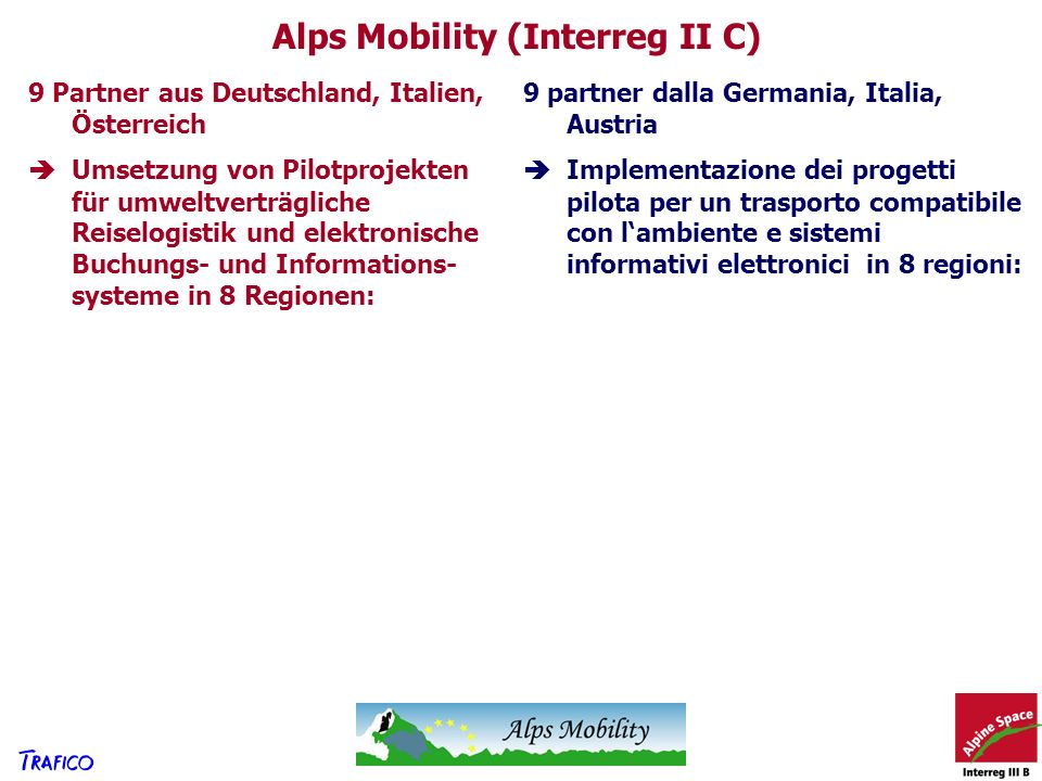 Alps Mobility (Interreg II C)