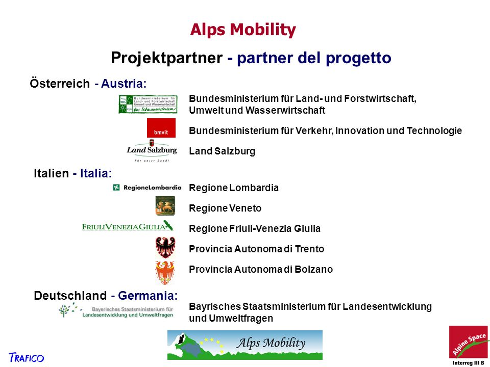 Projektpartner - partner del progetto