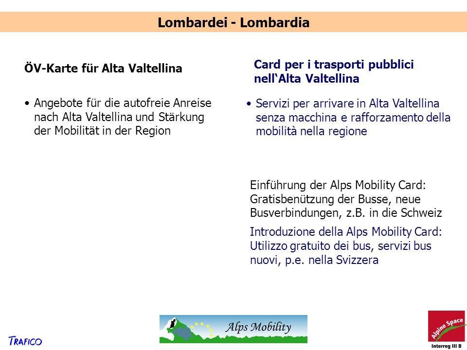 Lombardei - Lombardia Card per i trasporti pubblici nell'Alta Valtellina. ÖV-Karte für Alta Valtellina.
