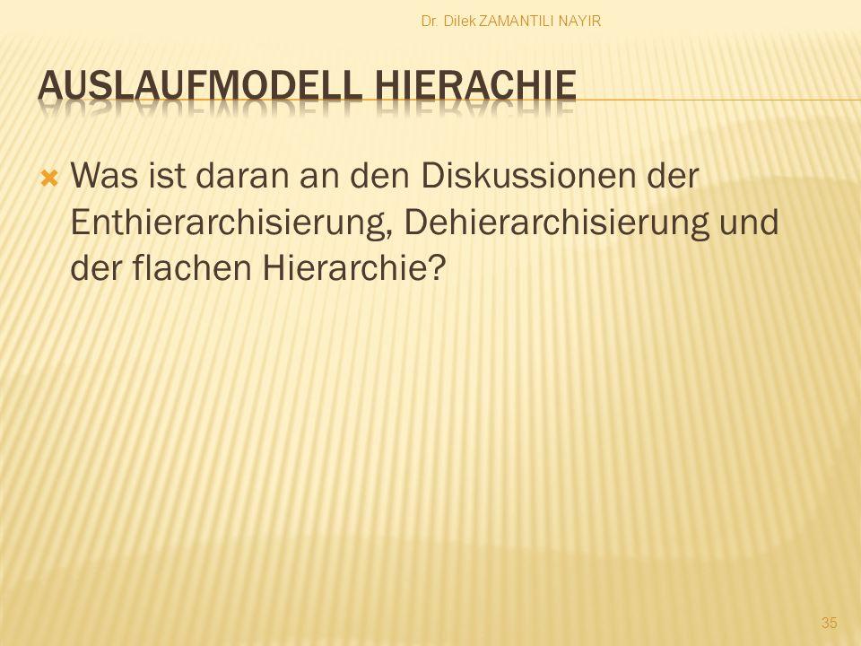 Auslaufmodell Hierachie