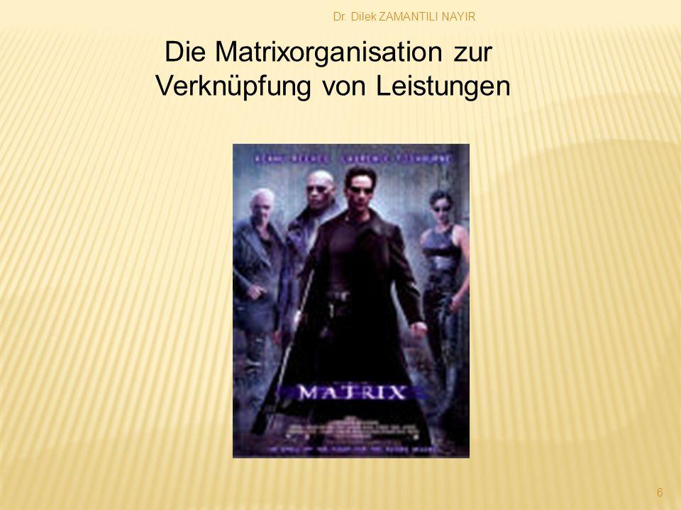 Die Matrixorganisation zur Verknüpfung von Leistungen