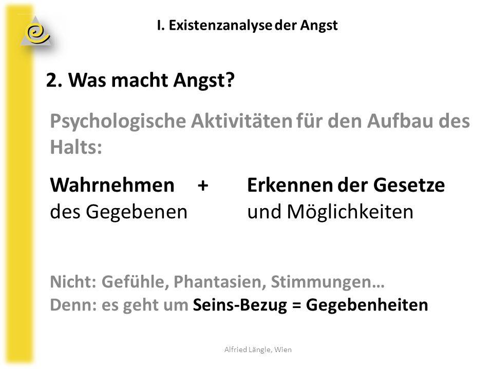 Psychologische Aktivitäten für den Aufbau des Halts: