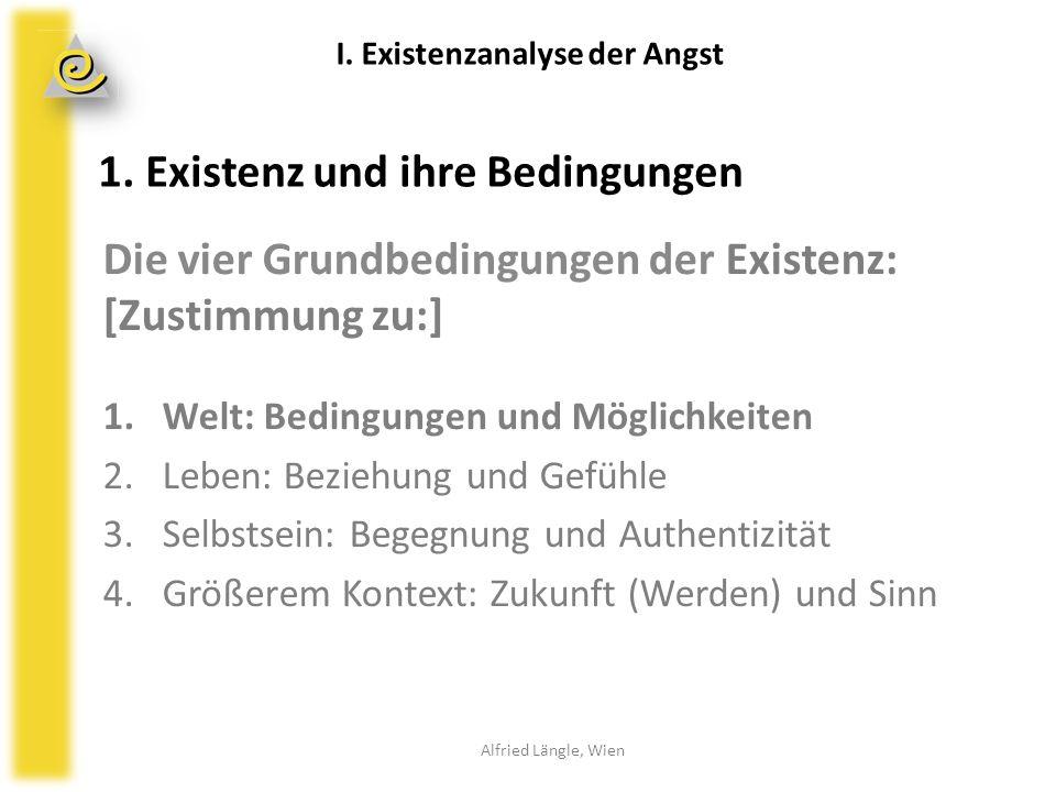 1. Existenz und ihre Bedingungen