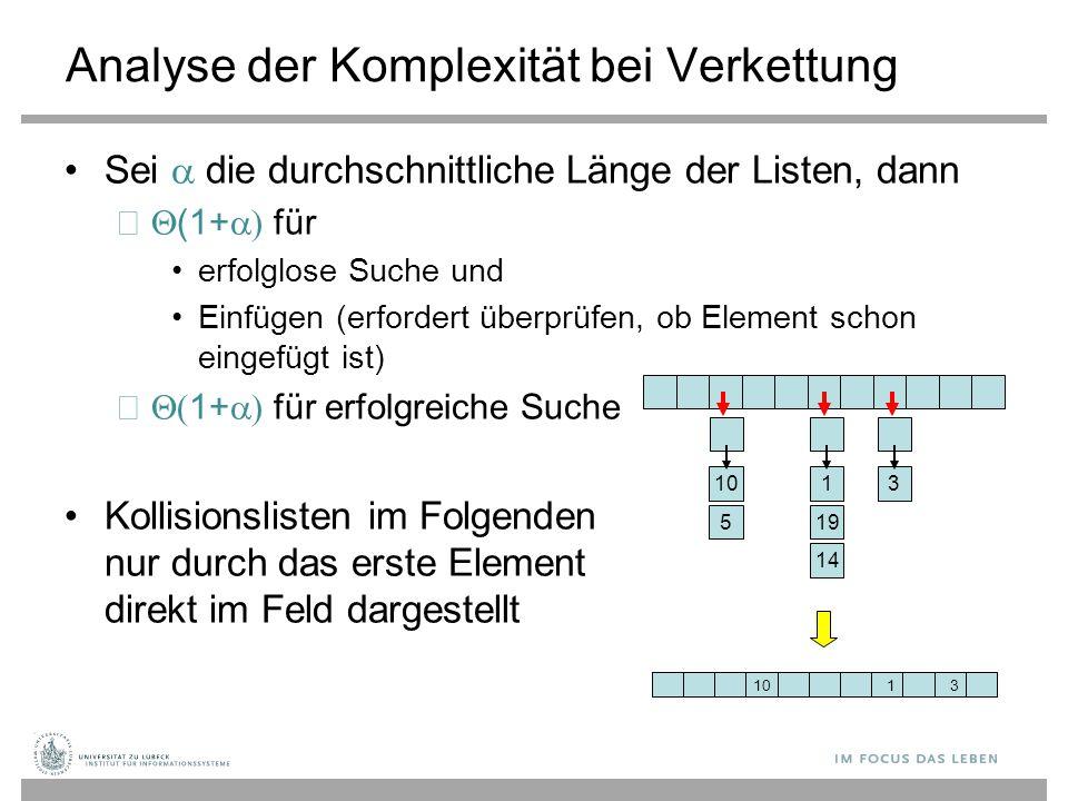 Analyse der Komplexität bei Verkettung