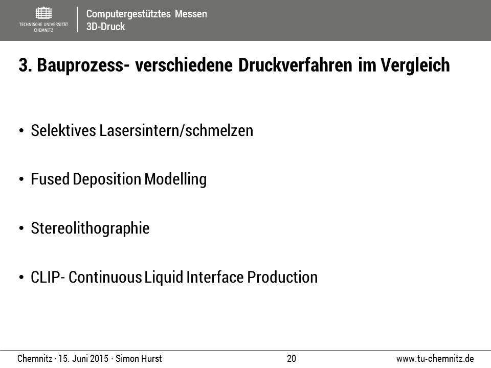 3. Bauprozess- verschiedene Druckverfahren im Vergleich