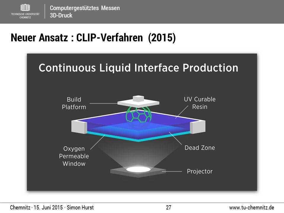 Neuer Ansatz : CLIP-Verfahren (2015)