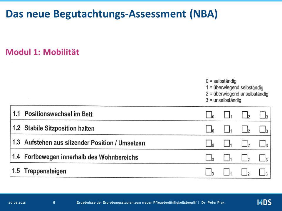 Das neue Begutachtungs-Assessment (NBA) Modul 1: Mobilität