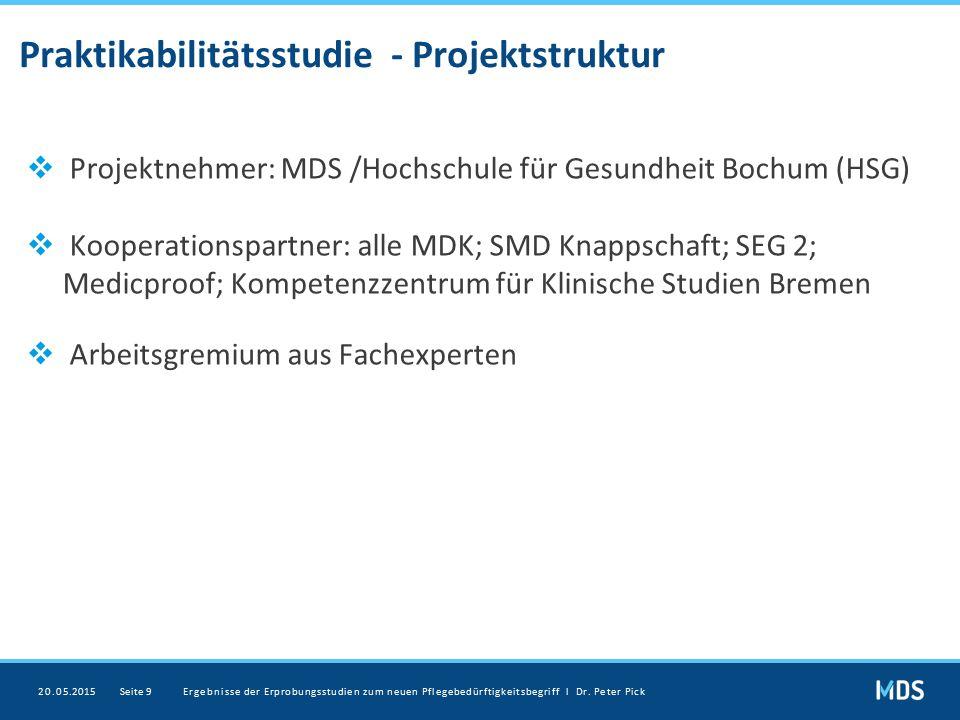 Praktikabilitätsstudie - Projektstruktur