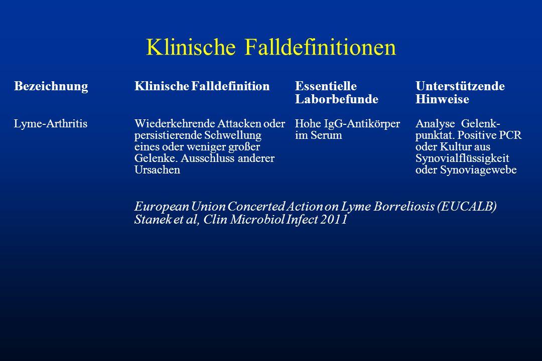 Klinische Falldefinitionen