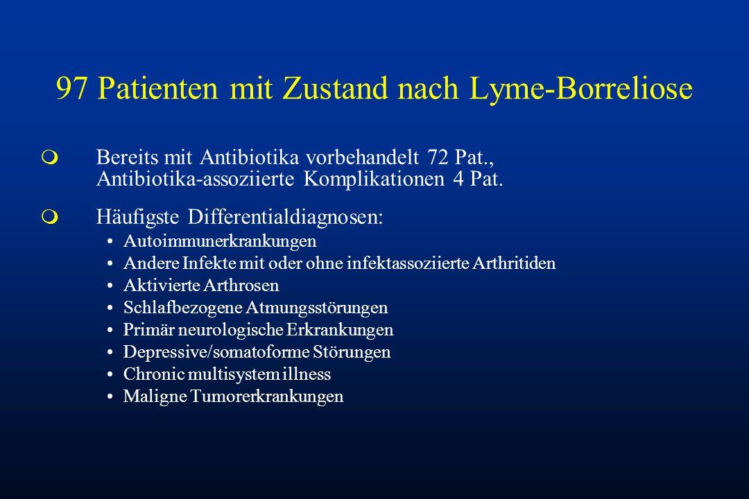 97 Patienten mit Zustand nach Lyme-Borreliose