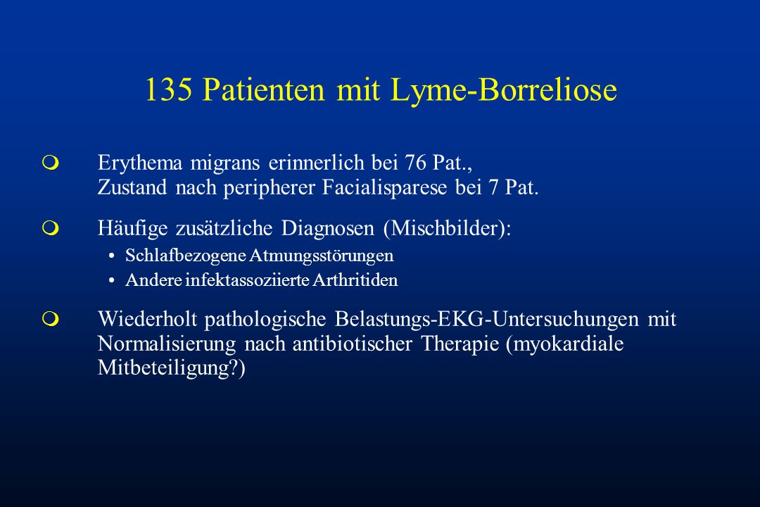 135 Patienten mit Lyme-Borreliose