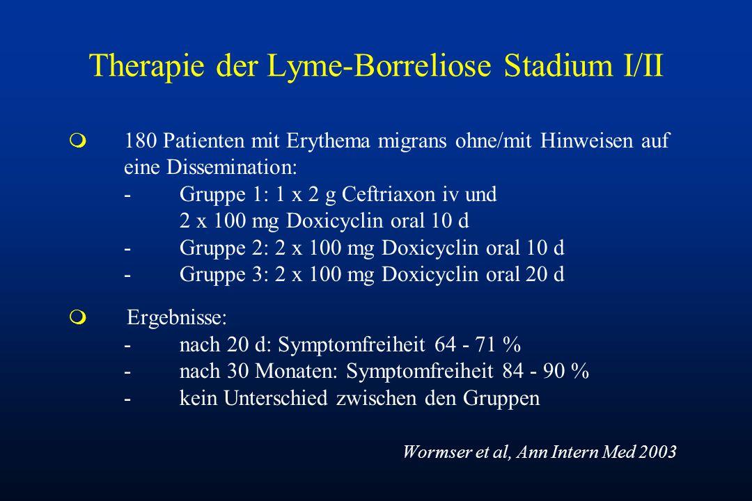 Therapie der Lyme-Borreliose Stadium I/II