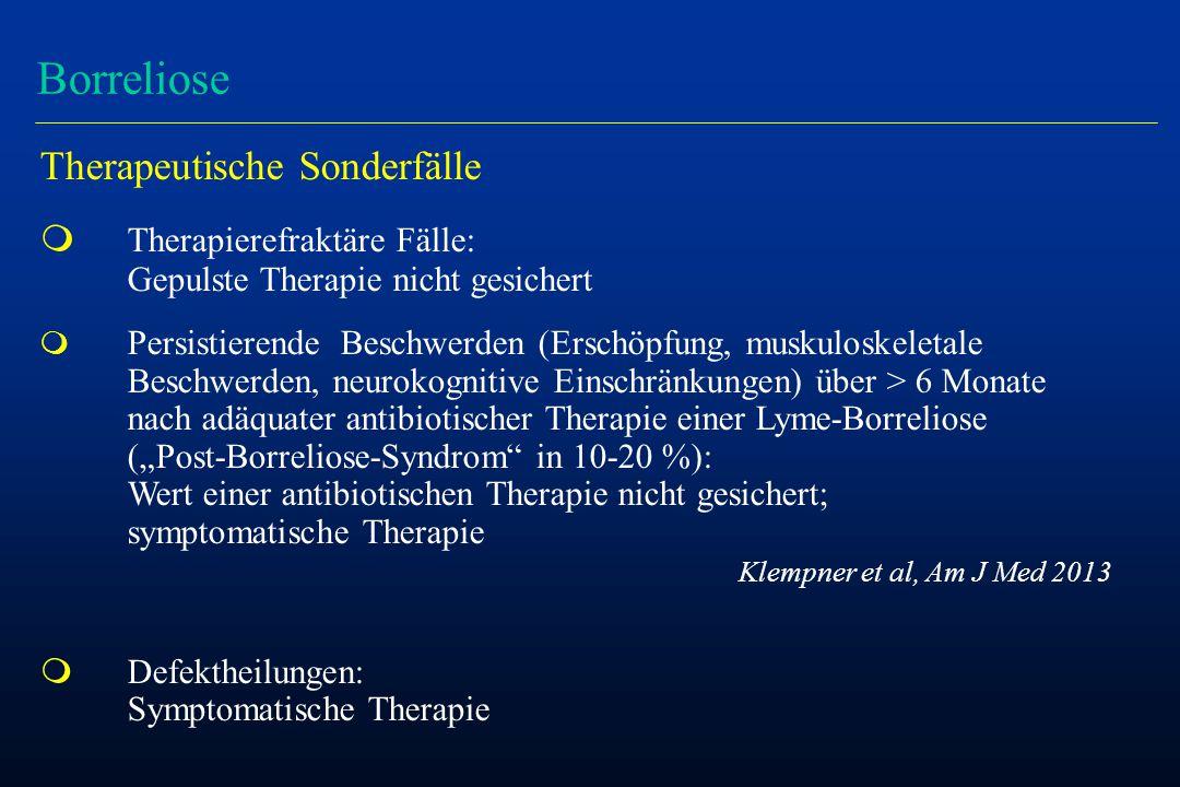 Borreliose Therapeutische Sonderfälle