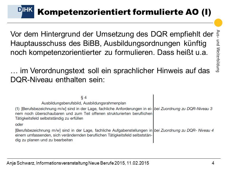 Kompetenzorientiert formulierte AO (I)
