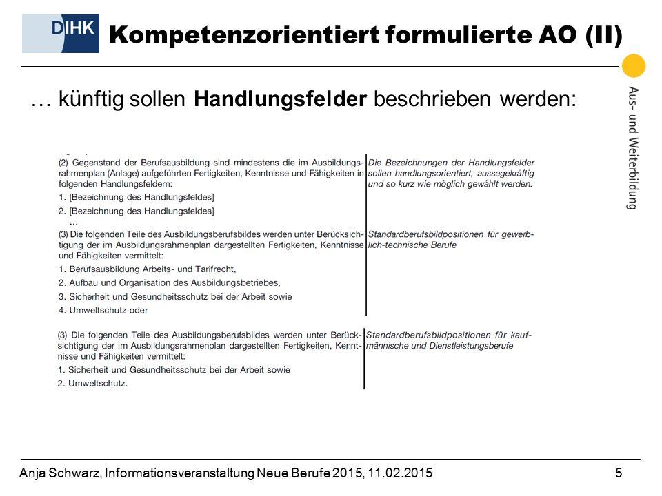 Kompetenzorientiert formulierte AO (II)