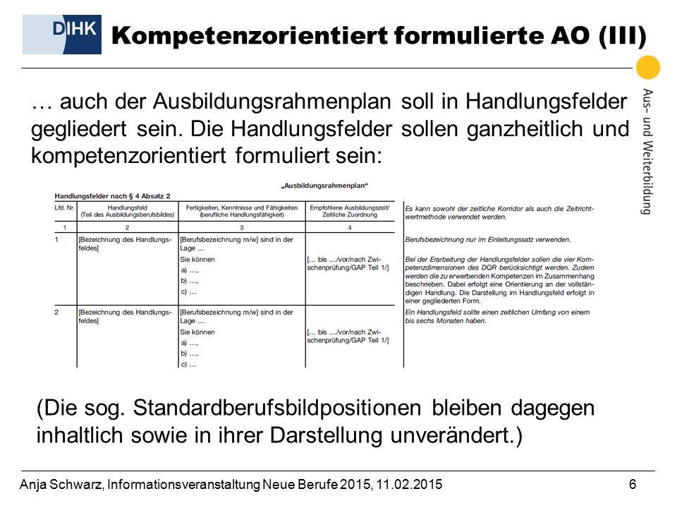 Kompetenzorientiert formulierte AO (III)