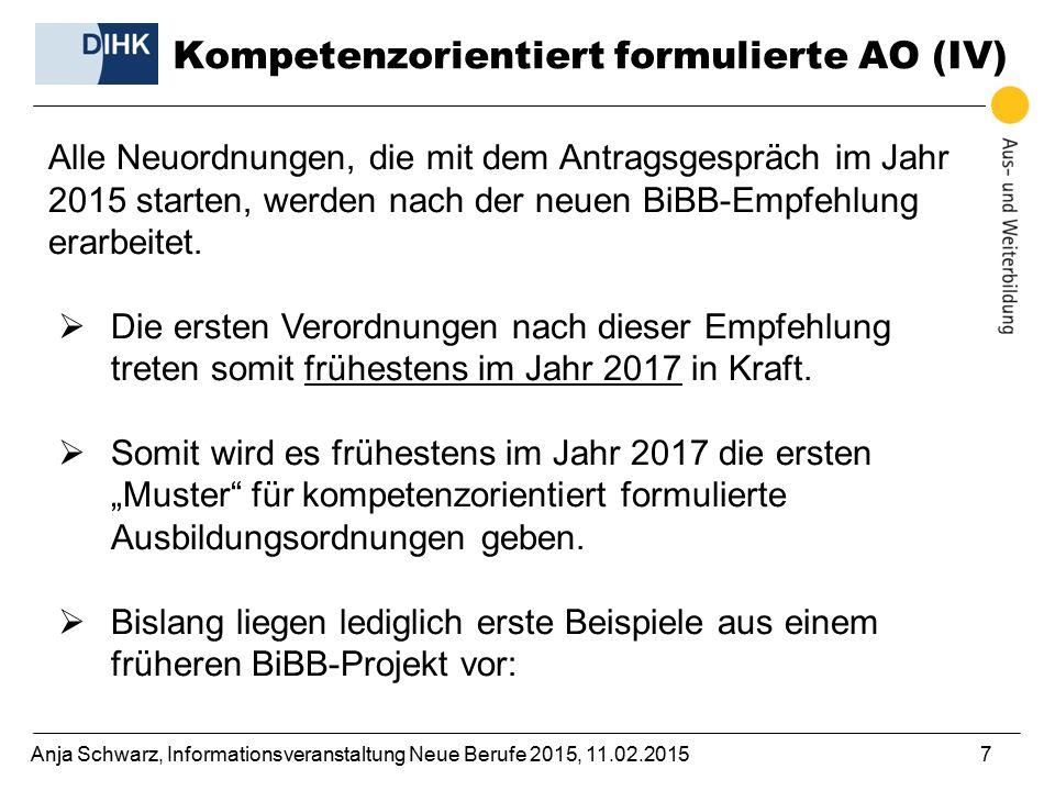 Kompetenzorientiert formulierte AO (IV)