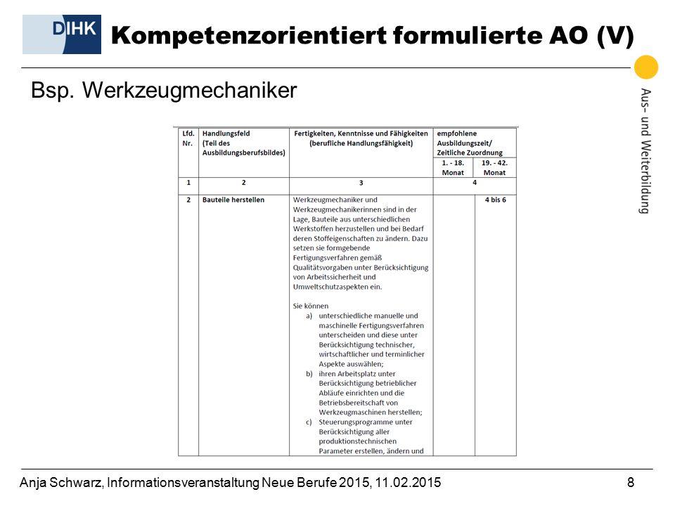 Kompetenzorientiert formulierte AO (V)