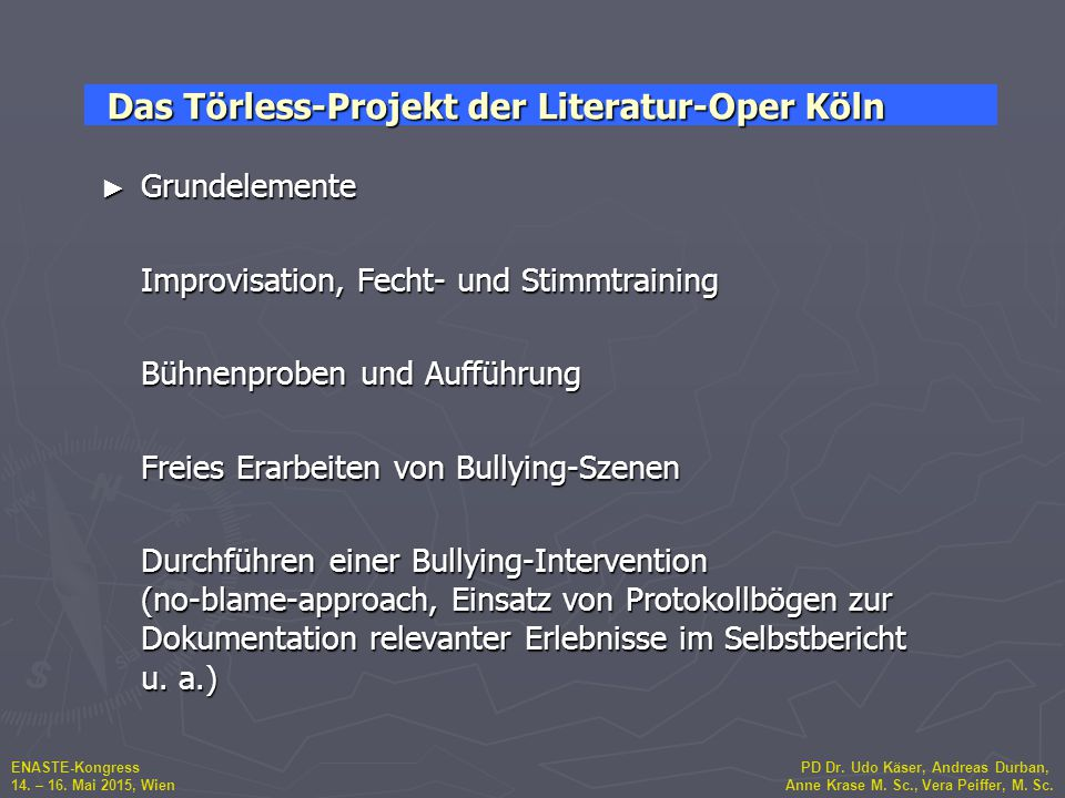 Das Törless-Projekt der Literatur-Oper Köln