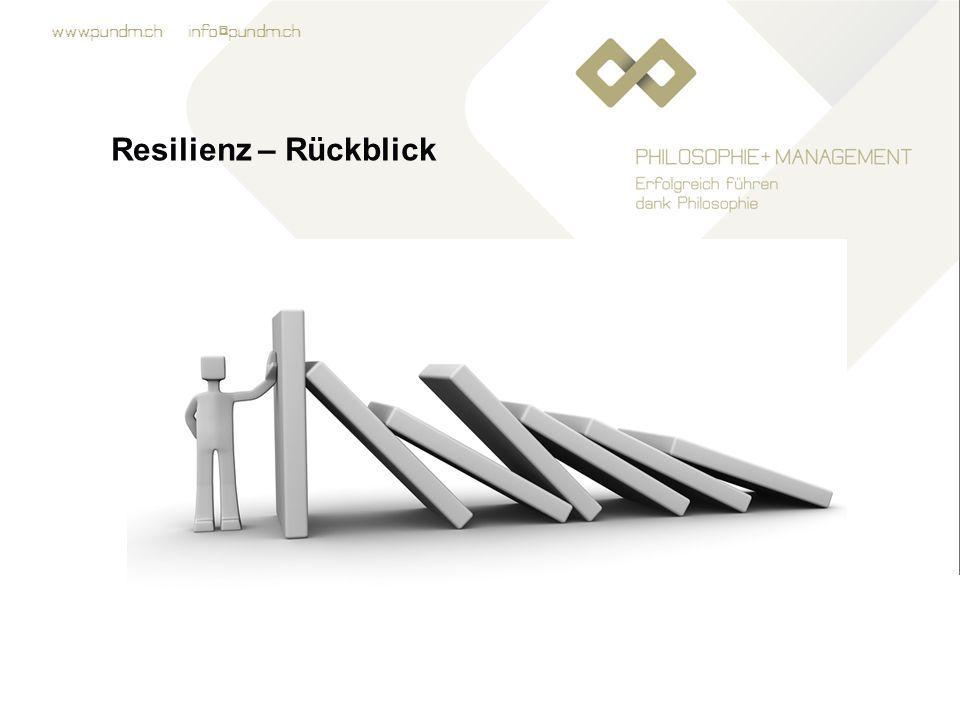 Resilienz – Rückblick Übung: Auswertung des
