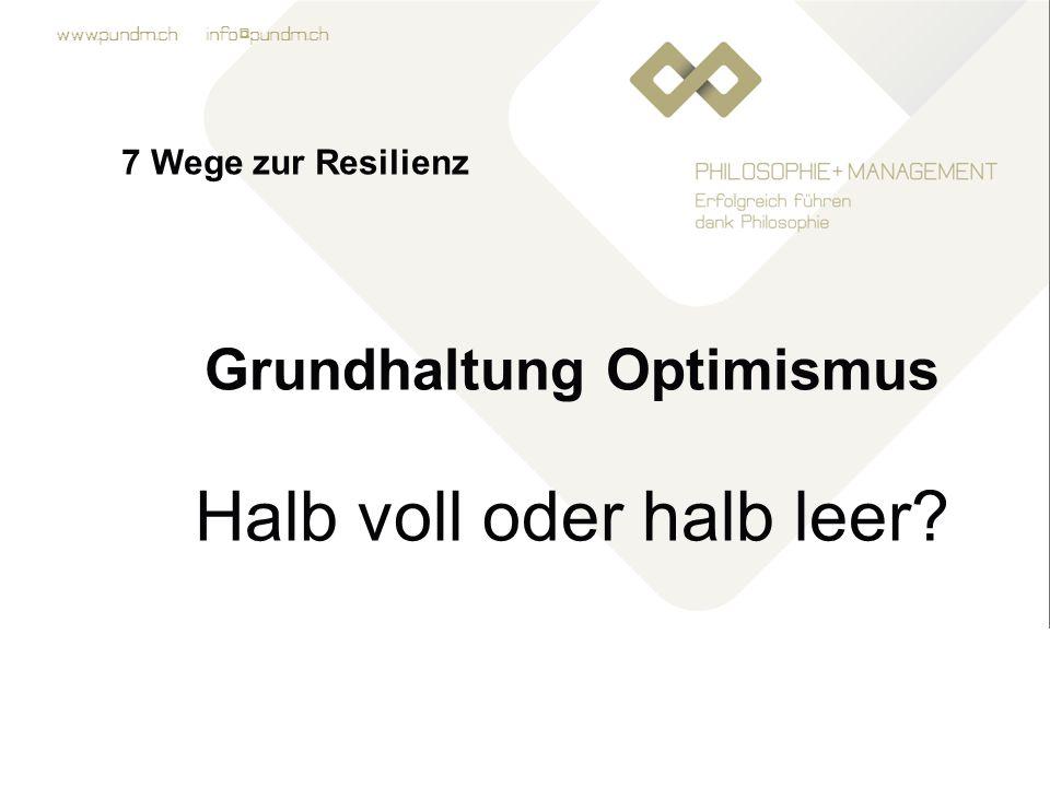 Grundhaltung Optimismus