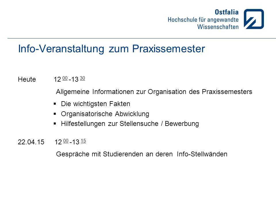 Info-Veranstaltung zum Praxissemester