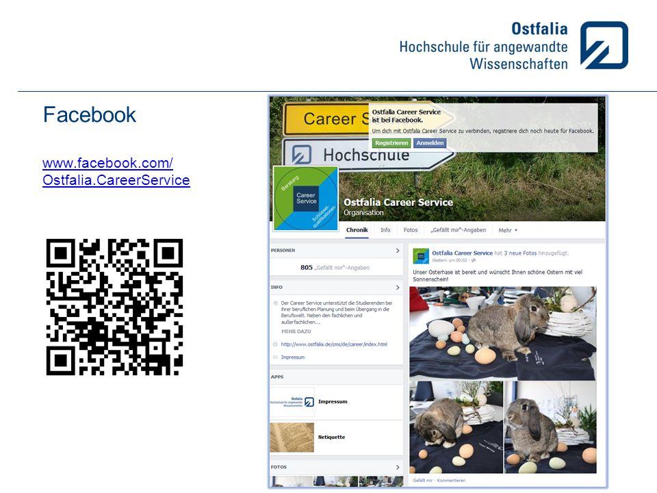 Facebook www.facebook.com/ Ostfalia.CareerService