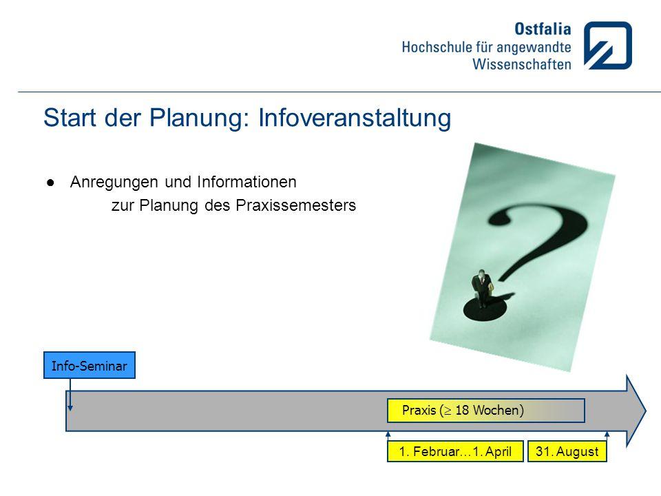 Start der Planung: Infoveranstaltung