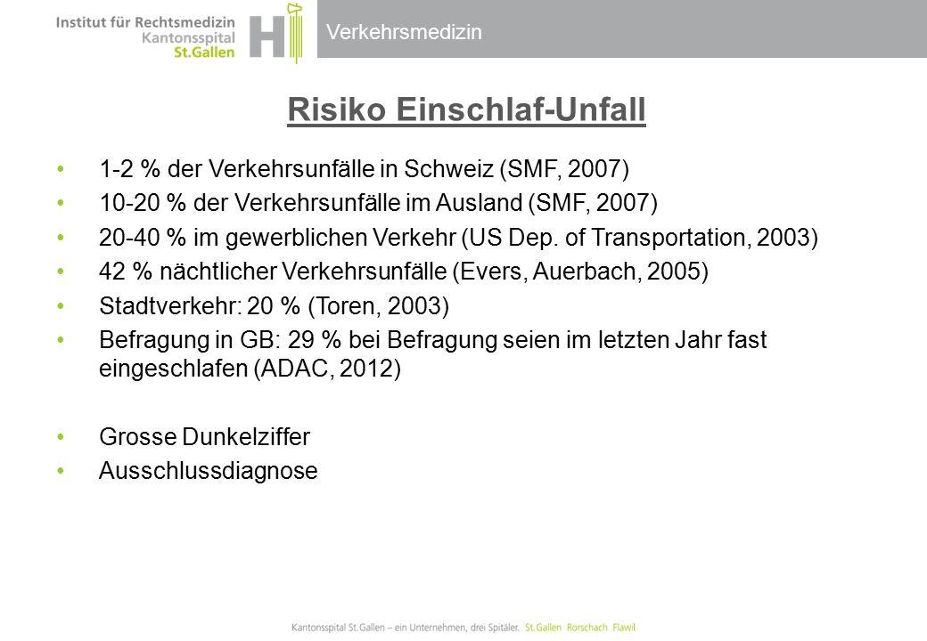 Risiko Einschlaf-Unfall