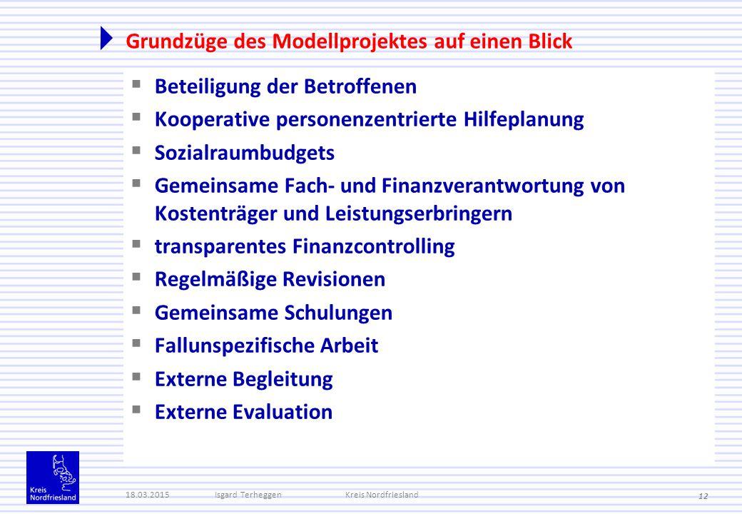Grundzüge des Modellprojektes auf einen Blick