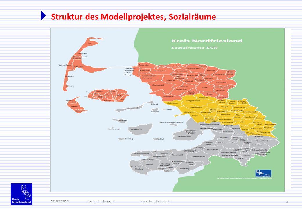 Struktur des Modellprojektes, Sozialräume