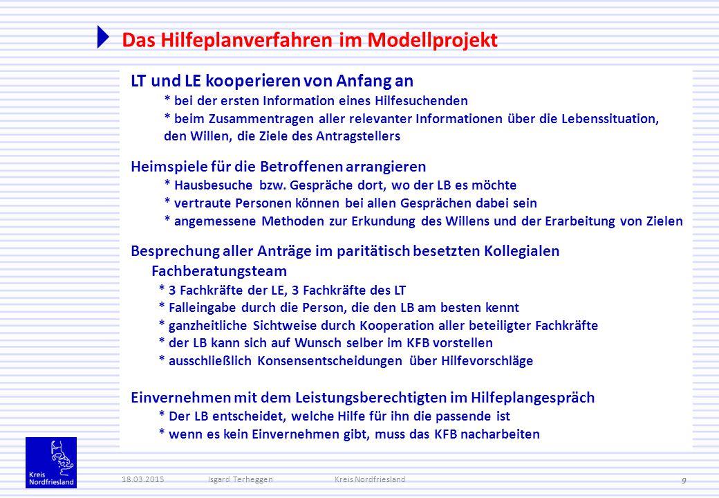Das Hilfeplanverfahren im Modellprojekt