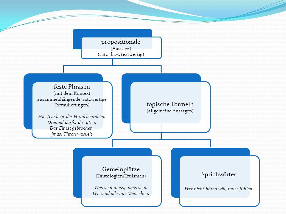 propositionale (Aussage)