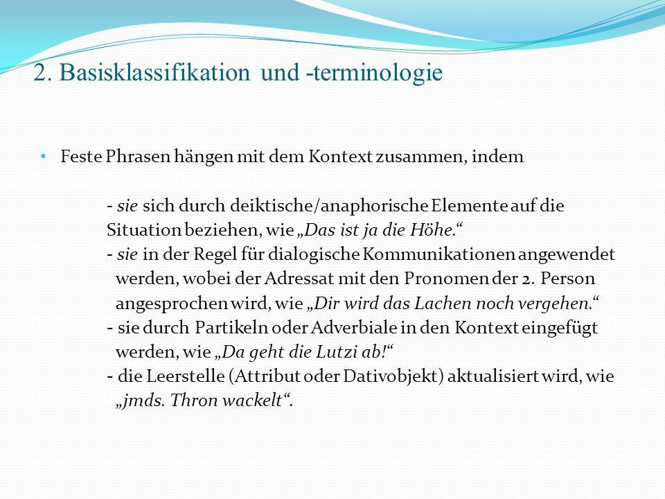 2. Basisklassifikation und -terminologie