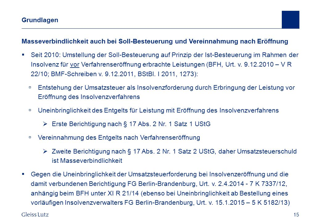 Erste Berichtigung nach § 17 Abs. 2 Nr. 1 Satz 1 UStG