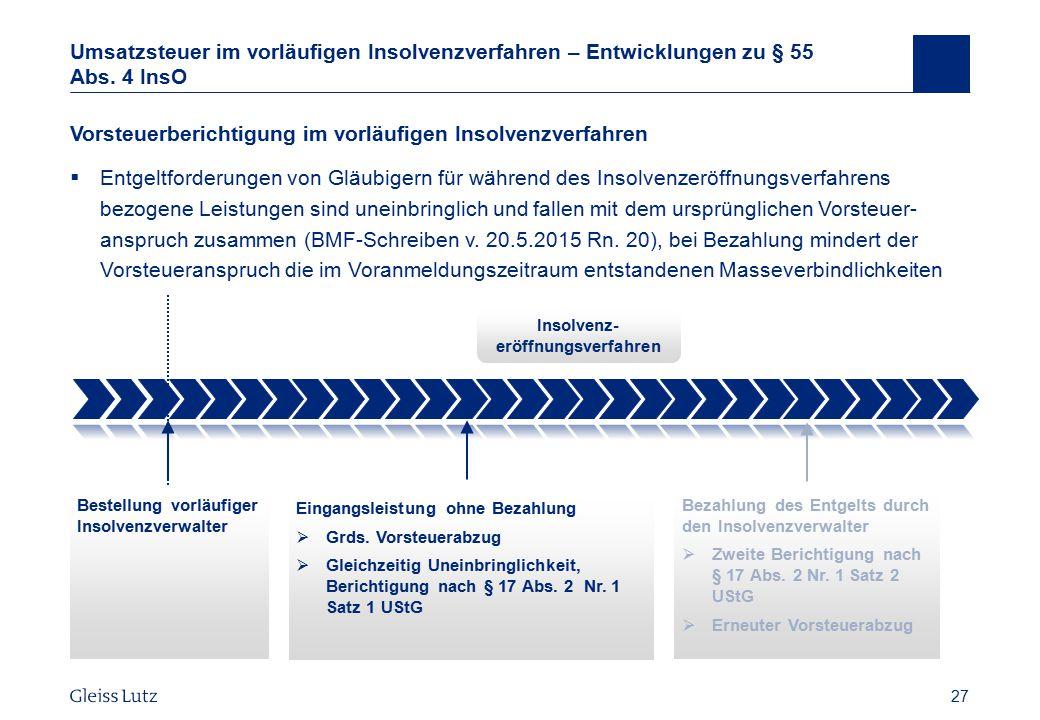 Insolvenz-eröffnungsverfahren