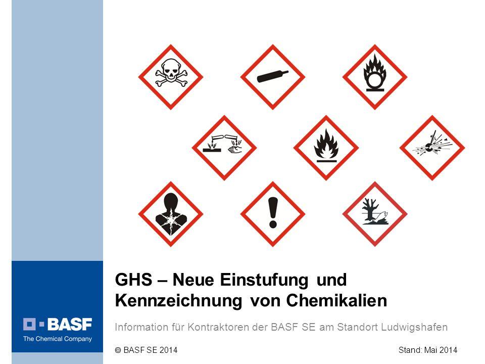 GHS – Neue Einstufung und Kennzeichnung von Chemikalien