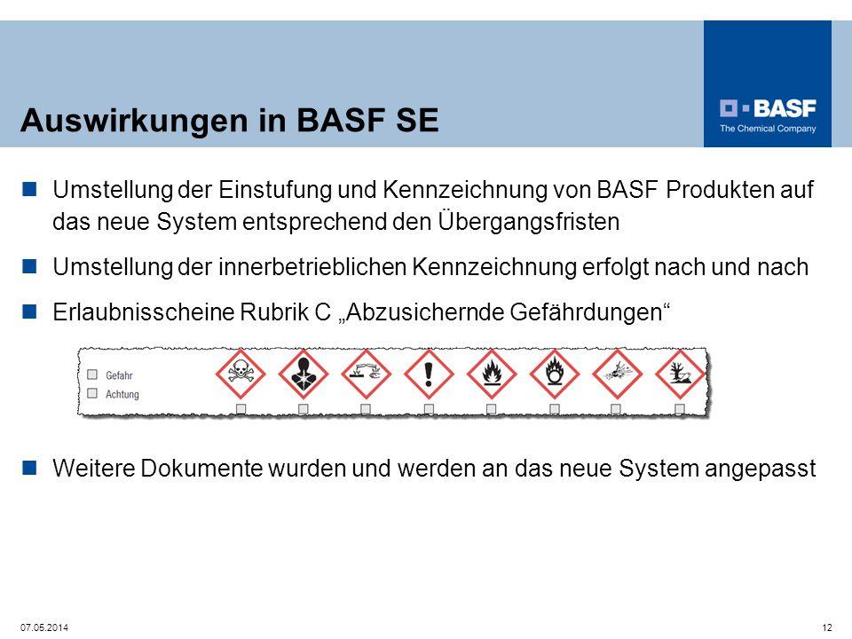 Auswirkungen in BASF SE