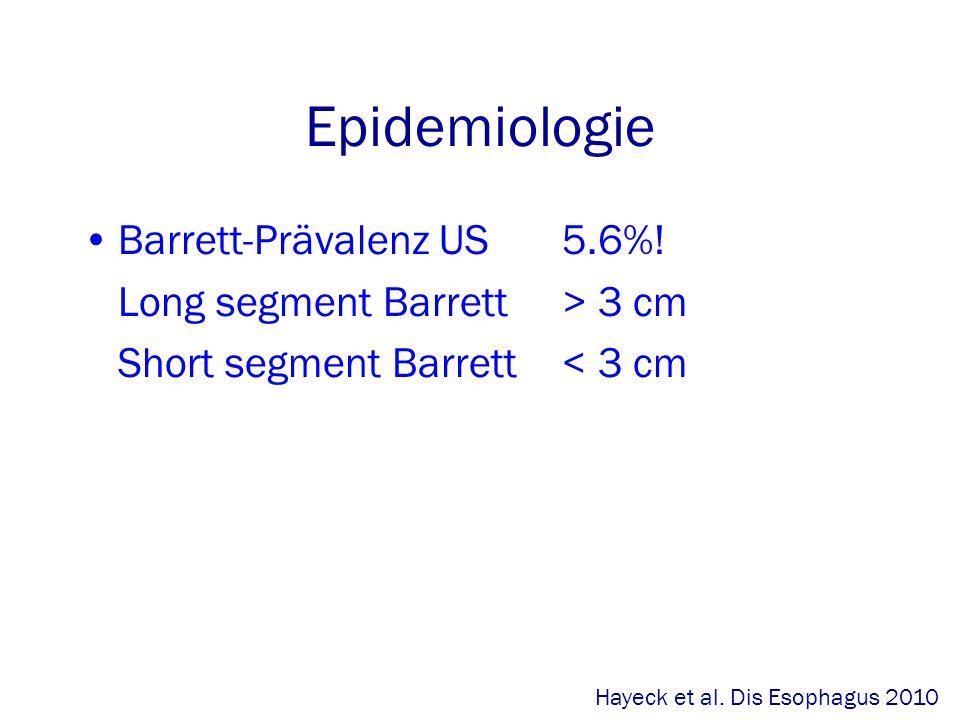 Epidemiologie Barrett-Prävalenz US 5.6%!