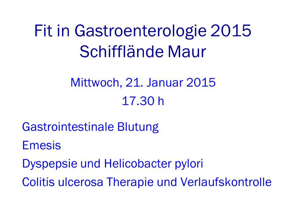 Fit in Gastroenterologie 2015 Schifflände Maur