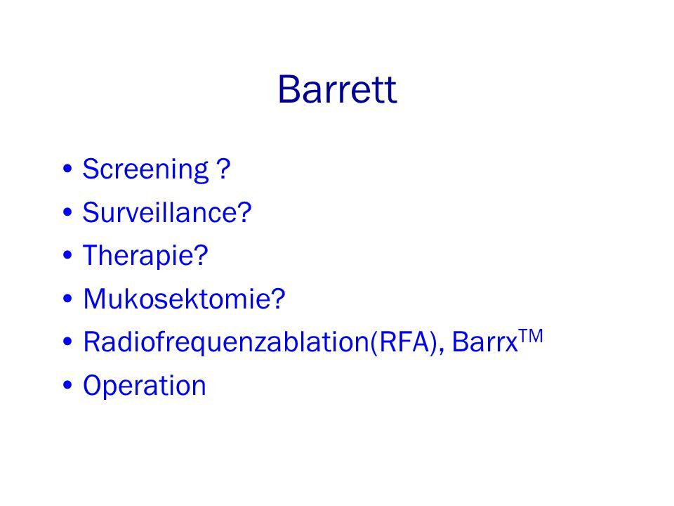 Barrett Screening Surveillance Therapie Mukosektomie