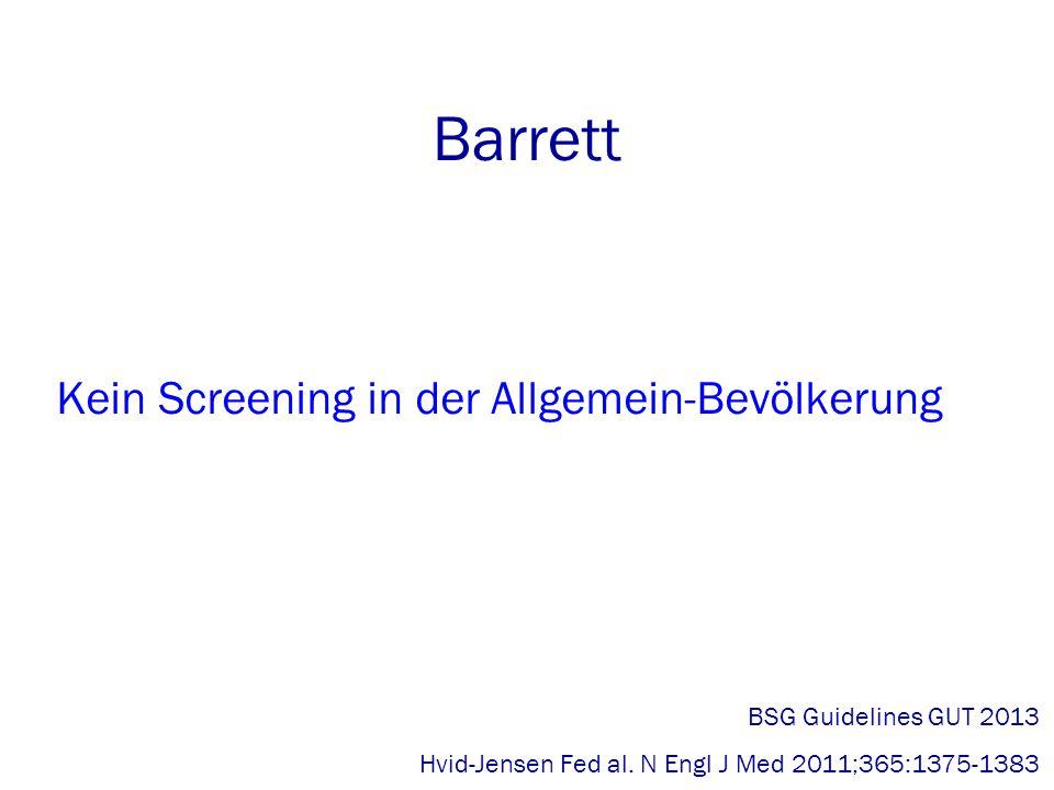 Barrett Kein Screening in der Allgemein-Bevölkerung