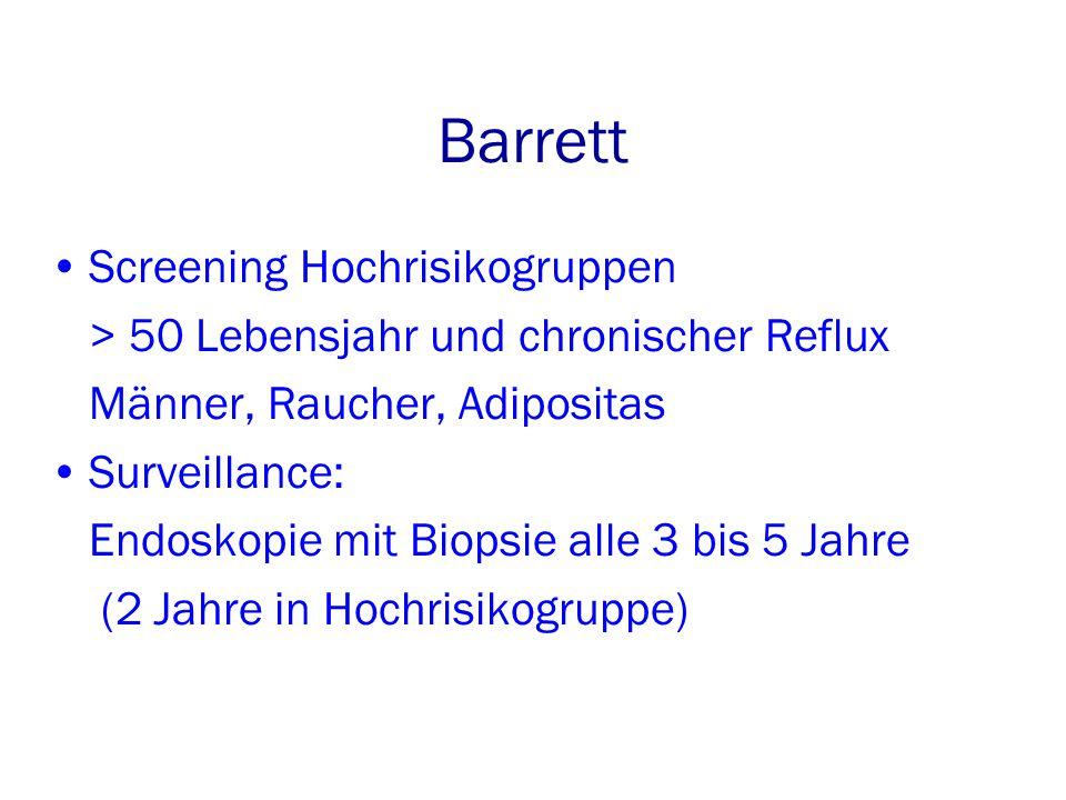 Barrett Screening Hochrisikogruppen