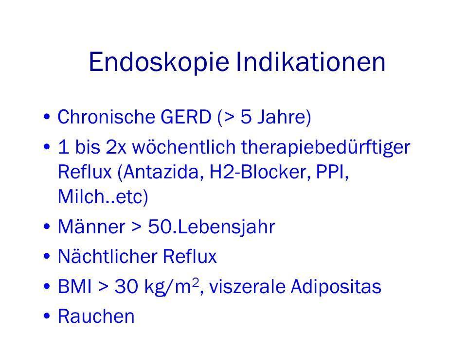 Endoskopie Indikationen