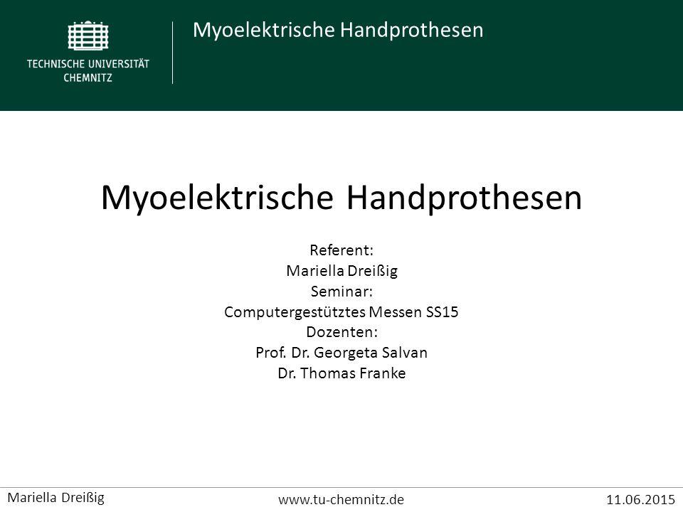 Myoelektrische Handprothesen