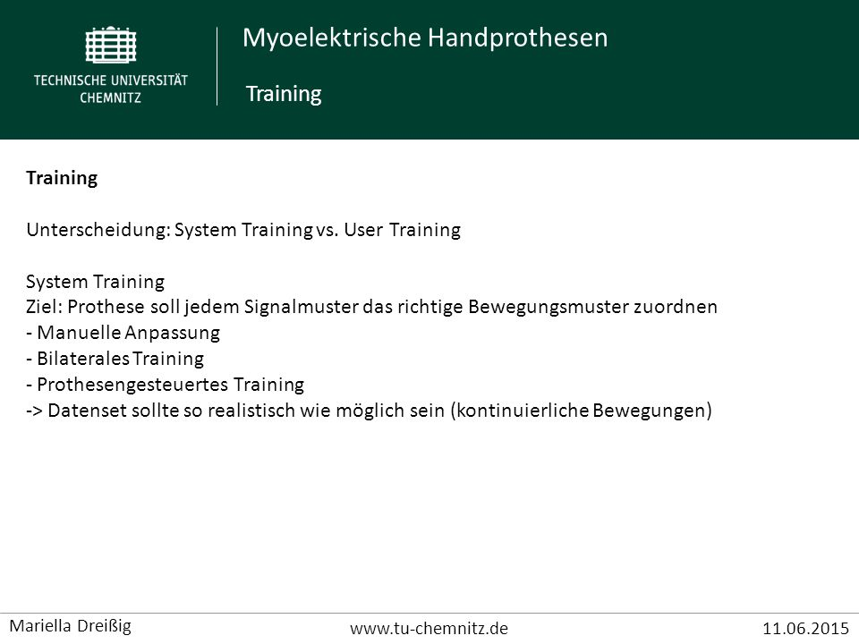 Training Training Unterscheidung: System Training vs. User Training