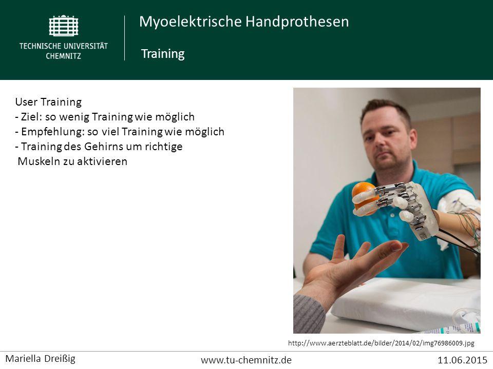 Training User Training Ziel: so wenig Training wie möglich