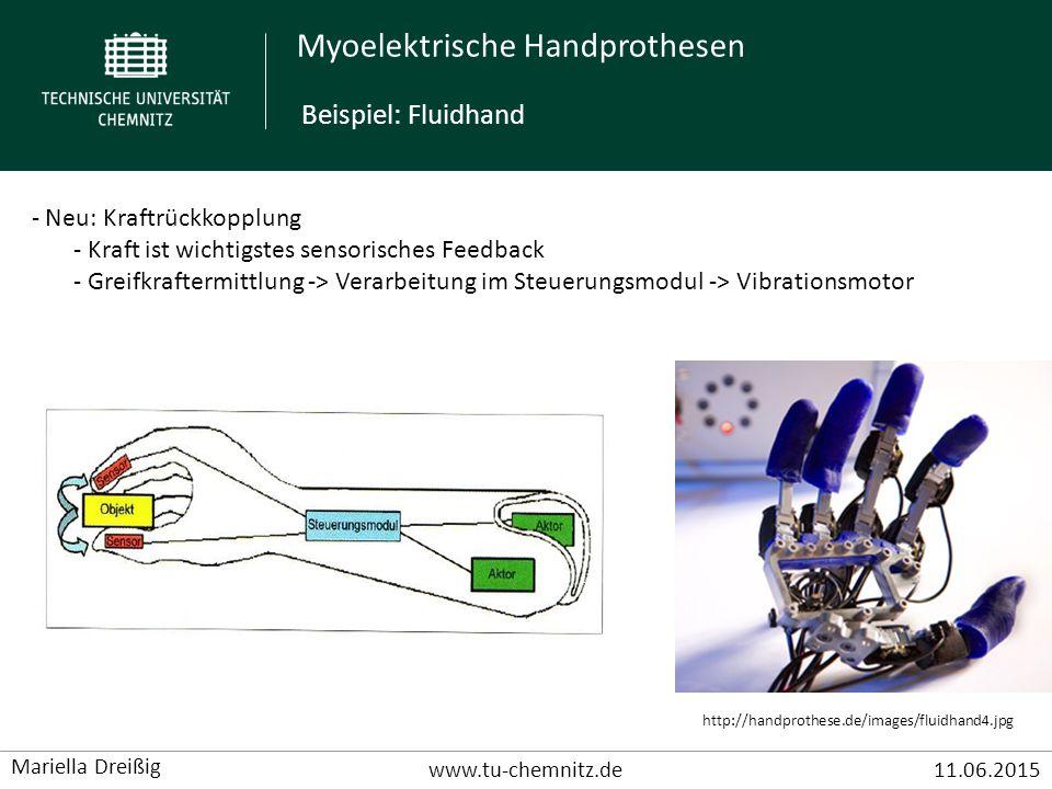 Beispiel: Fluidhand Neu: Kraftrückkopplung