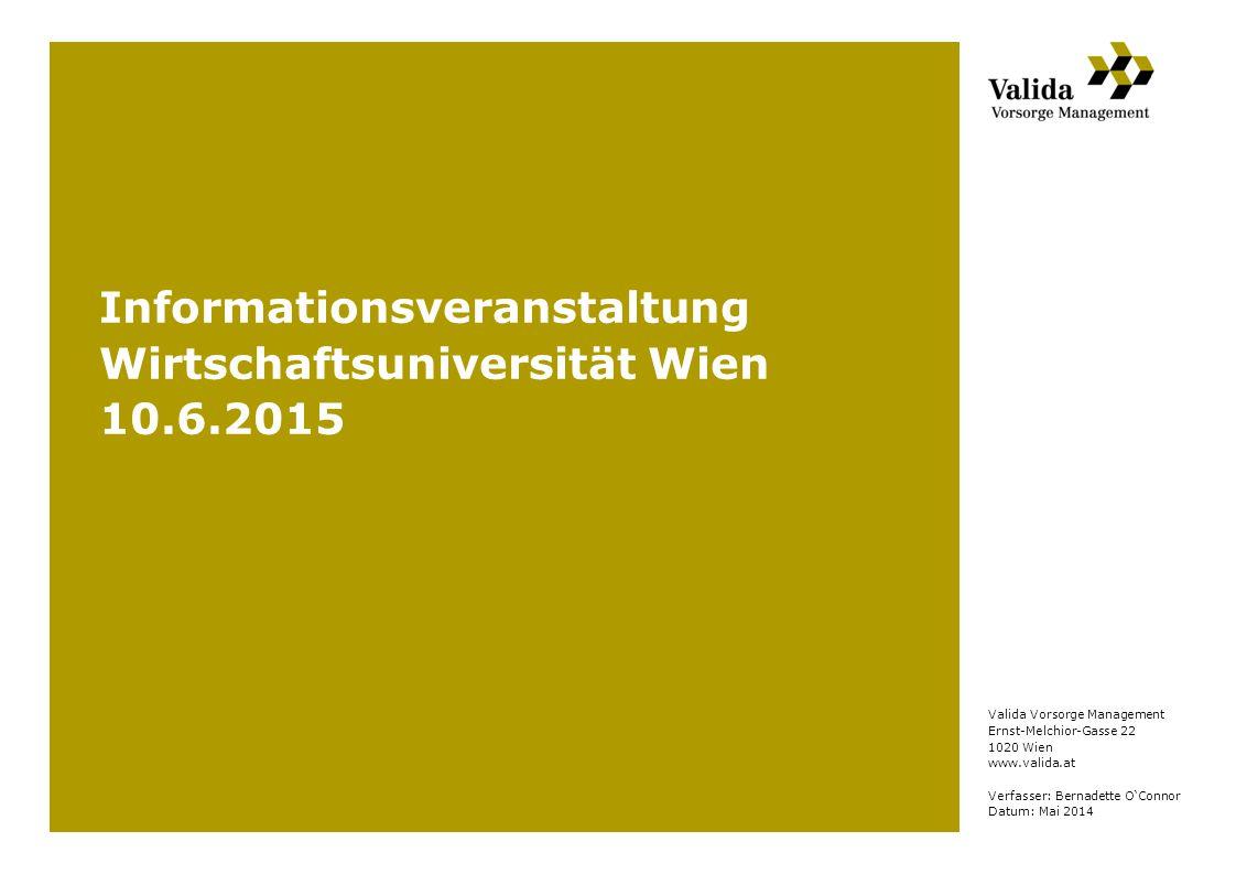 Informationsveranstaltung Wirtschaftsuniversität Wien 10.6.2015